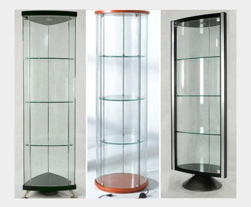 Стеклянные витрины-шкафы для дома