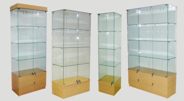 Стеклянные витрины-шкафы для магазина