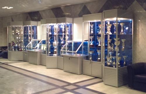 Стеклянные витрины для выставки