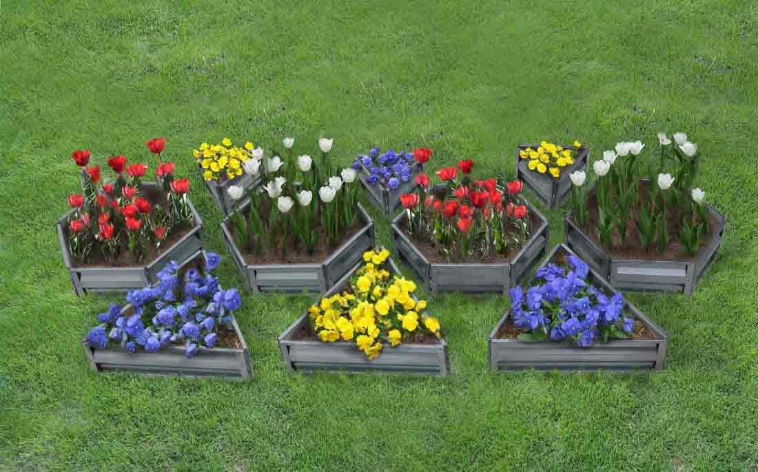 Грядка для цветов фото